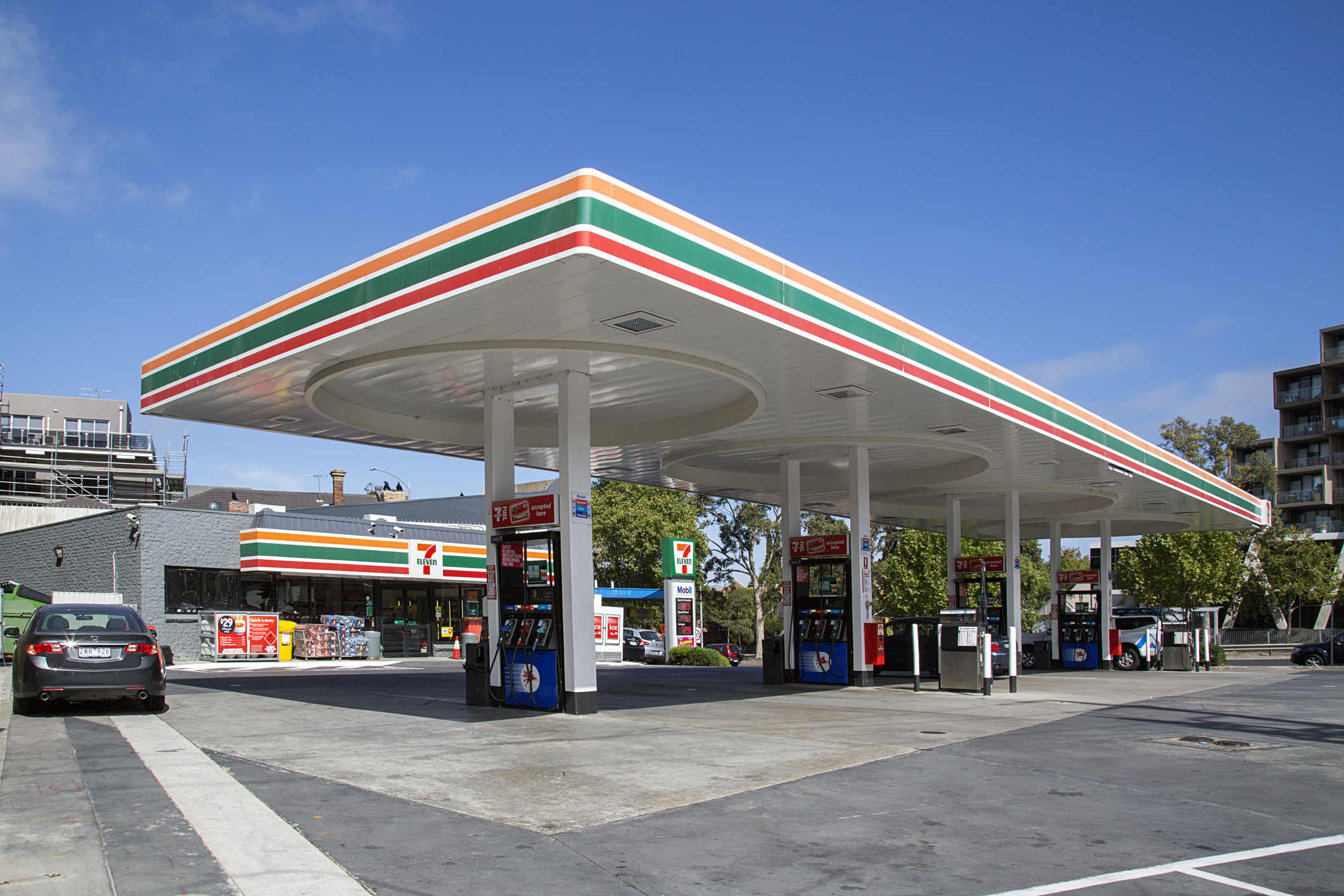 Exterior of a convenience store.